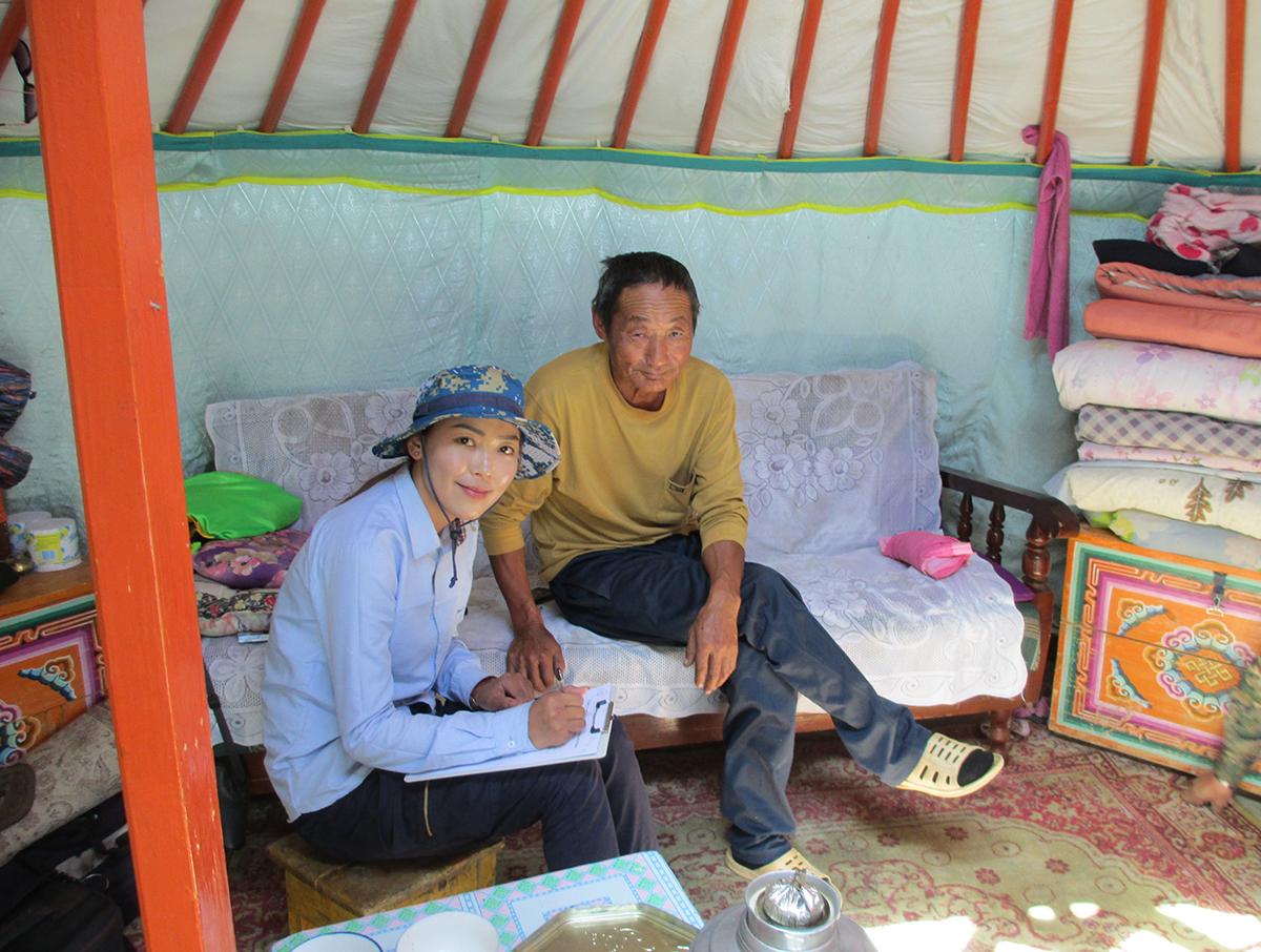Otgontamir Chimed i Mongoliet.
