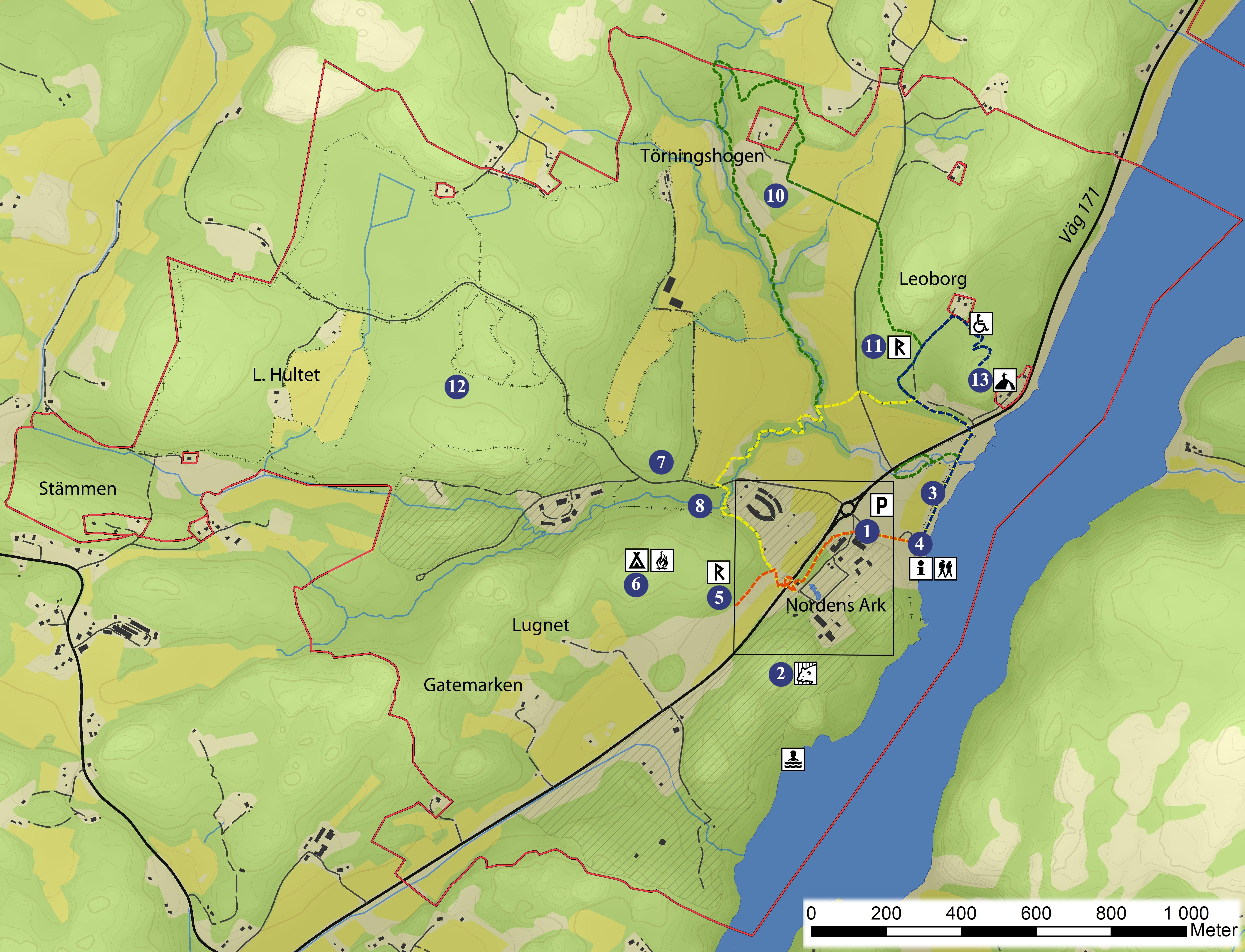 nordens ark karta Sevärdheter i ekoparken | Nordens Ark nordens ark karta